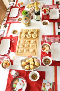 クリスマス・パーティーテーブルアレンジ