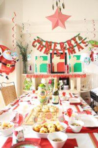 お客様のクリスマスパーティーの全体装飾img