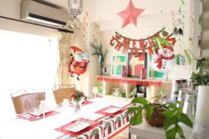 お客様のクリスマス・パーティー全体写真