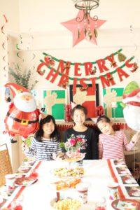 クリスマス・パーティーお子様の記念写真