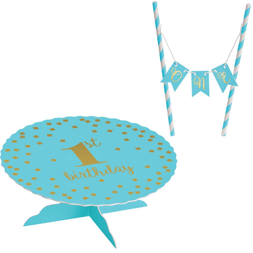 100053 ミニケーキスタンドキット『ファーストバースデー』(ブルー)