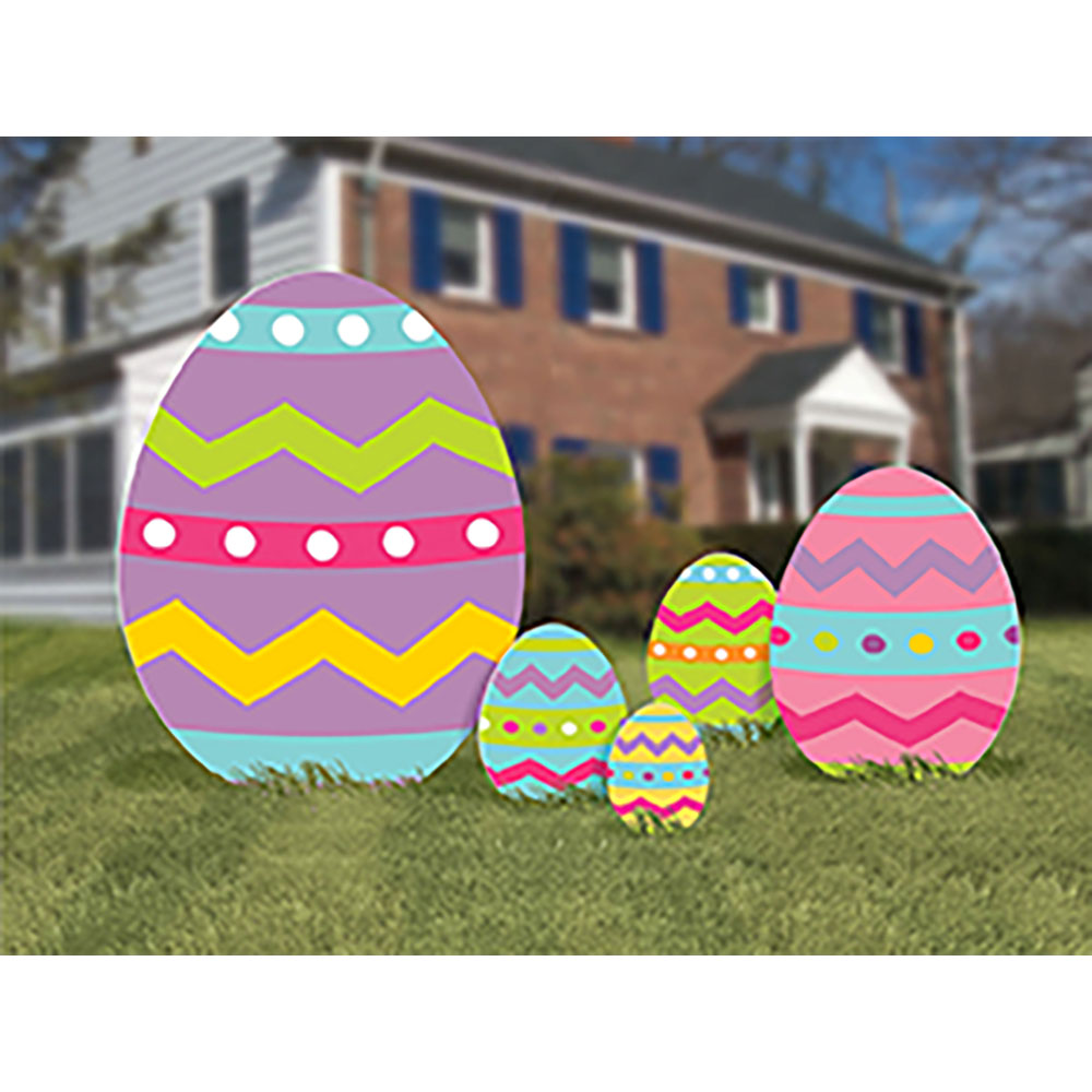 Plastic Easter Egg Signs