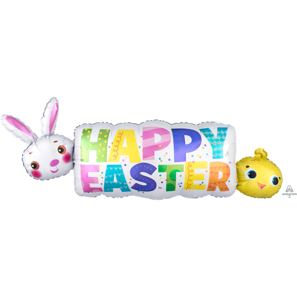 Happy Easter Banner Super Shape