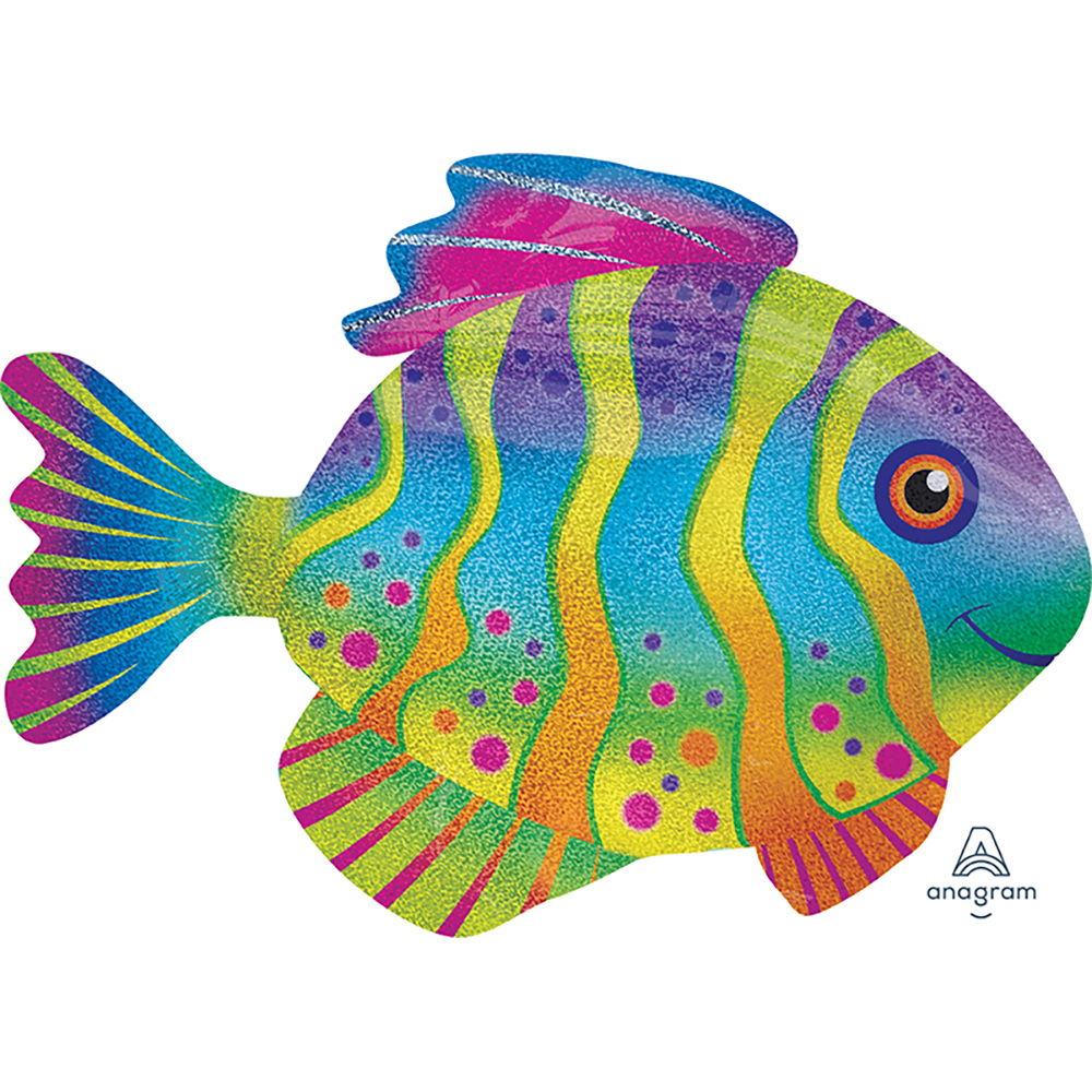 Holographic Colorful Fish Super Shape
