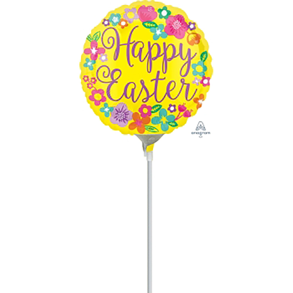 4″, 9″ Floral Happy Easter