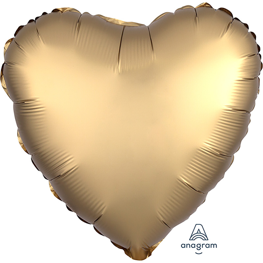 Satin Luxe Gold Sateen Heart