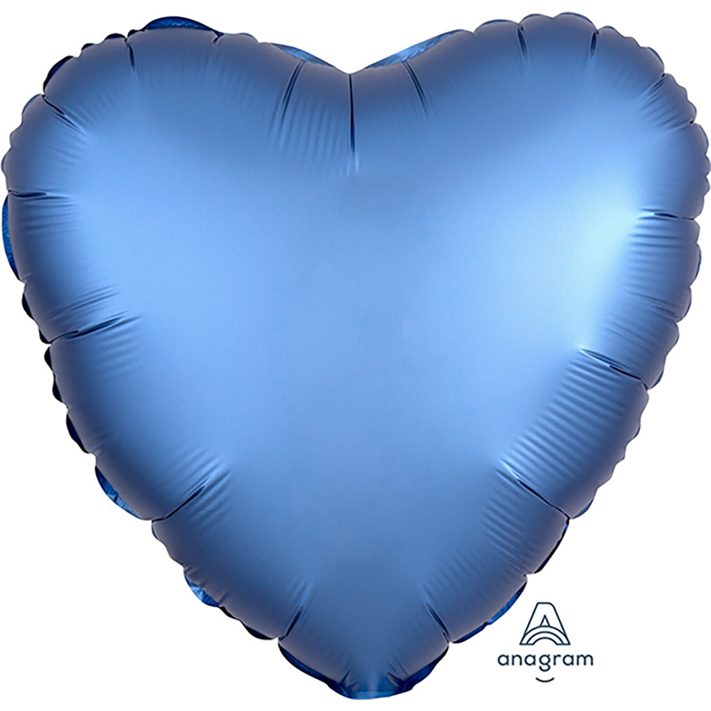Satin Luxe Azure Heart