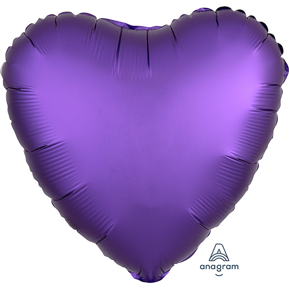 Satin Luxe Purple Royale Heart