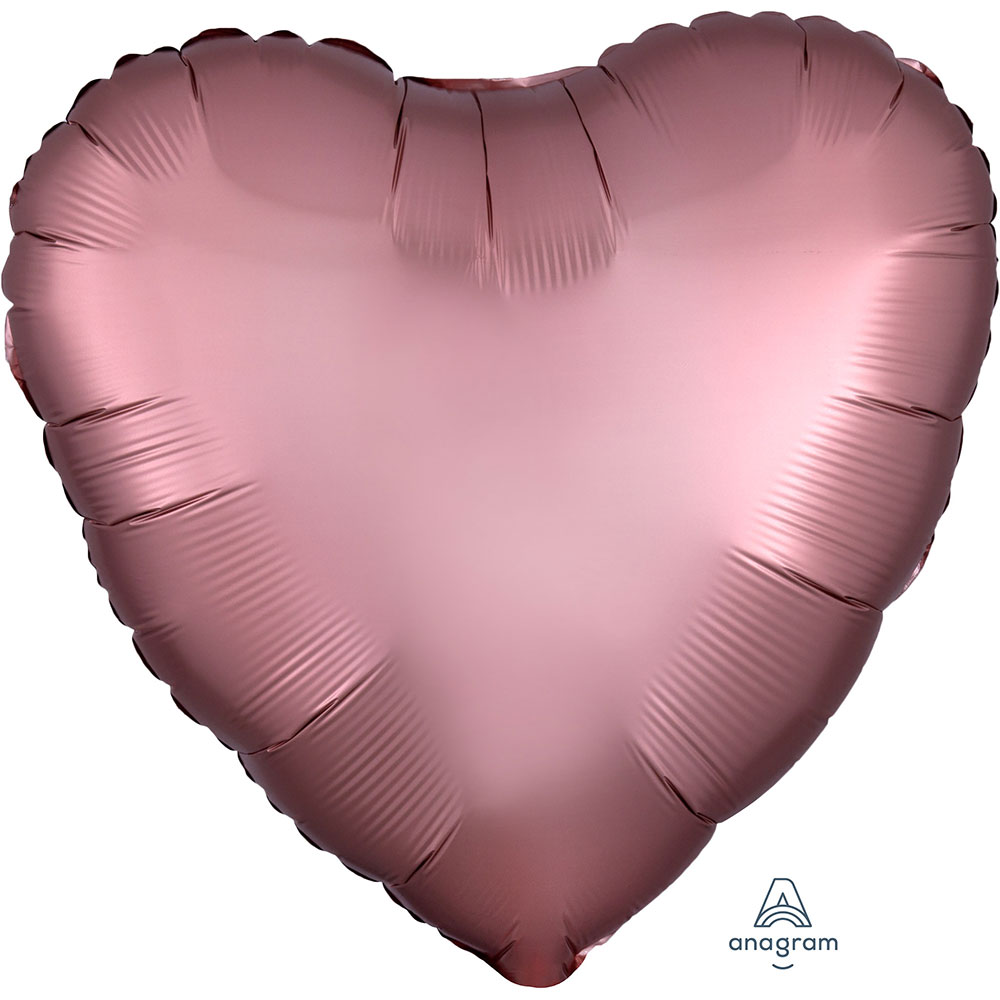Satin Luxe Rose Copper Heart