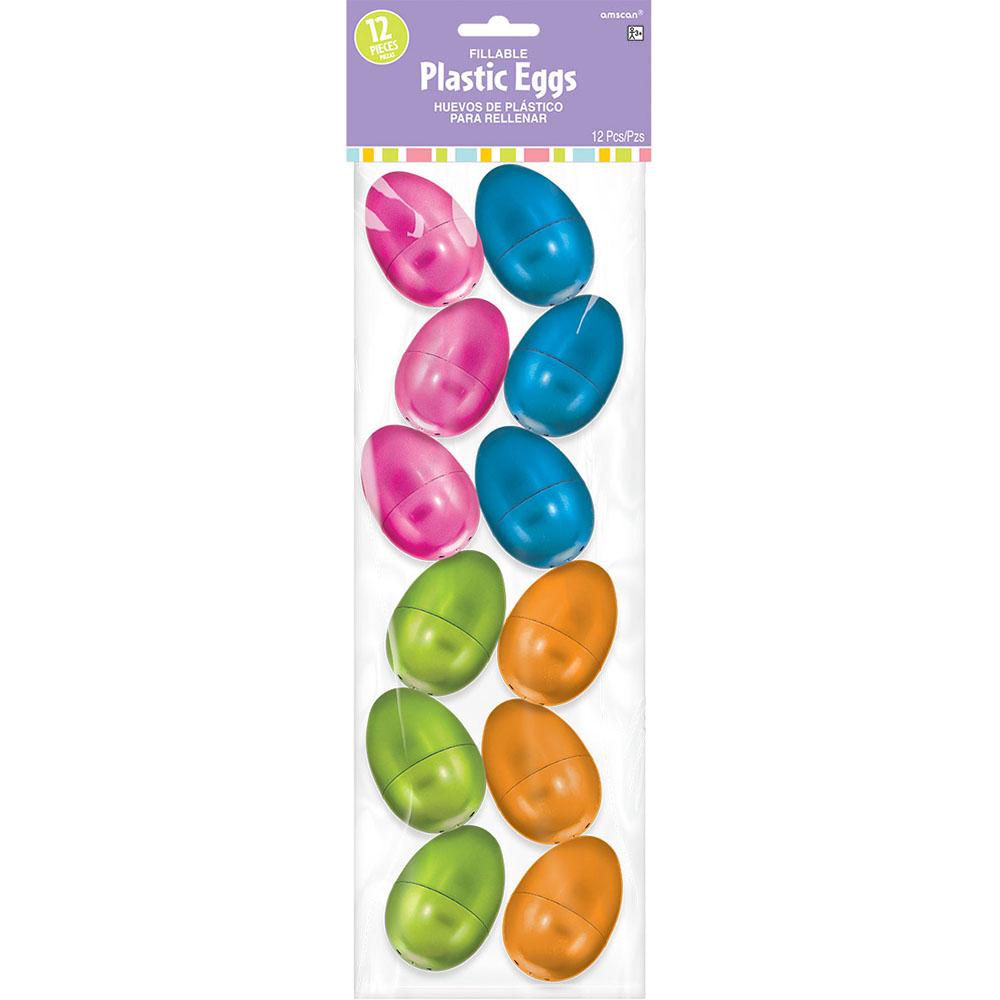 Plastic Metallic Eggs Small