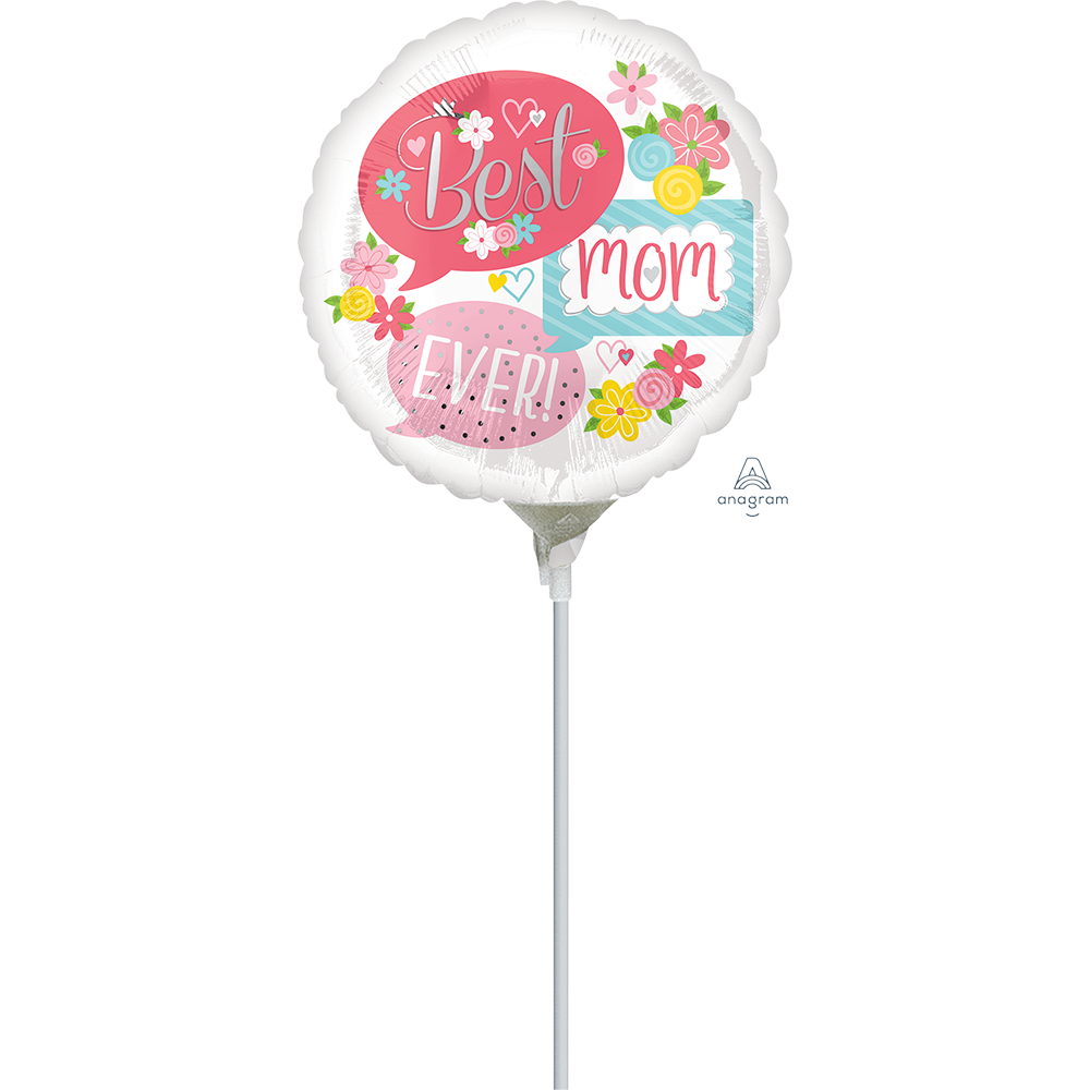 4″, 9″ Best Mom Ever Bubbles