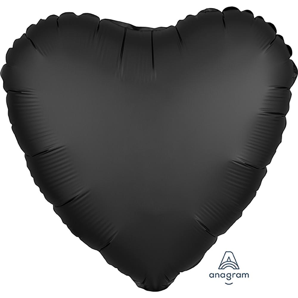 Satin Luxe Onyx Heart