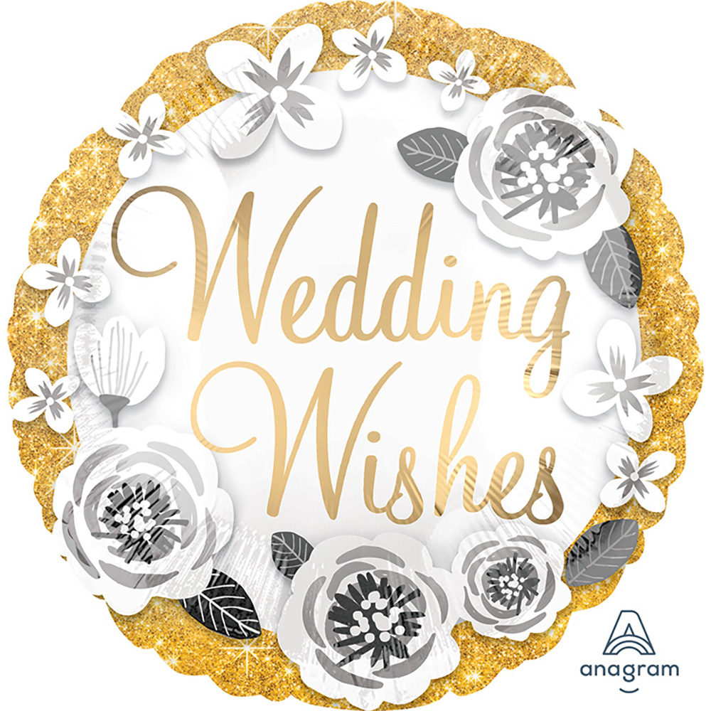 Satin Luxe Wedding Wishes Gold & Silver