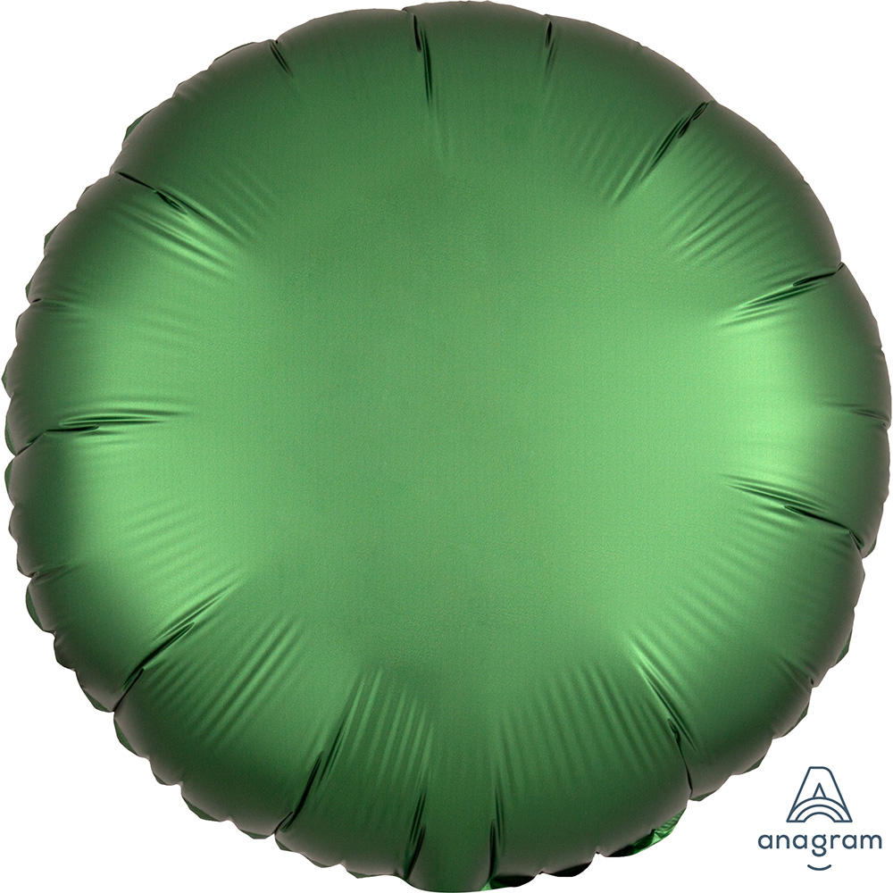 Satin Luxe Emerald Circle