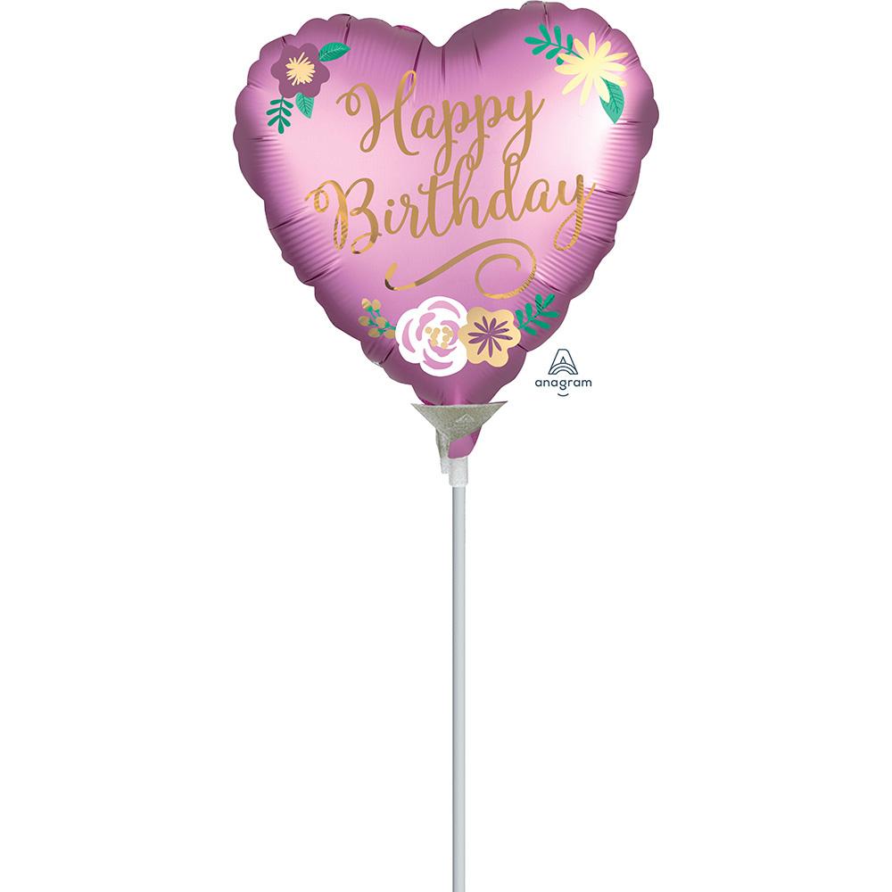 9″ Birthday Satin Flowers