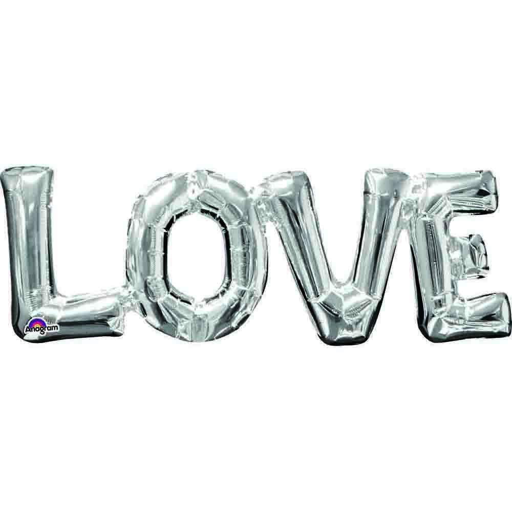CI: Block Phrase LOVE Silver