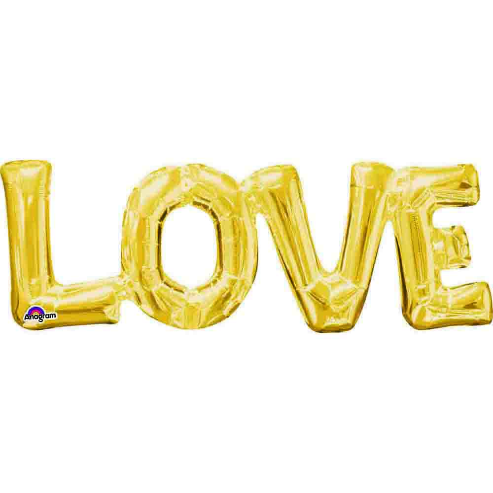 CI: Block Phrase LOVE Gold