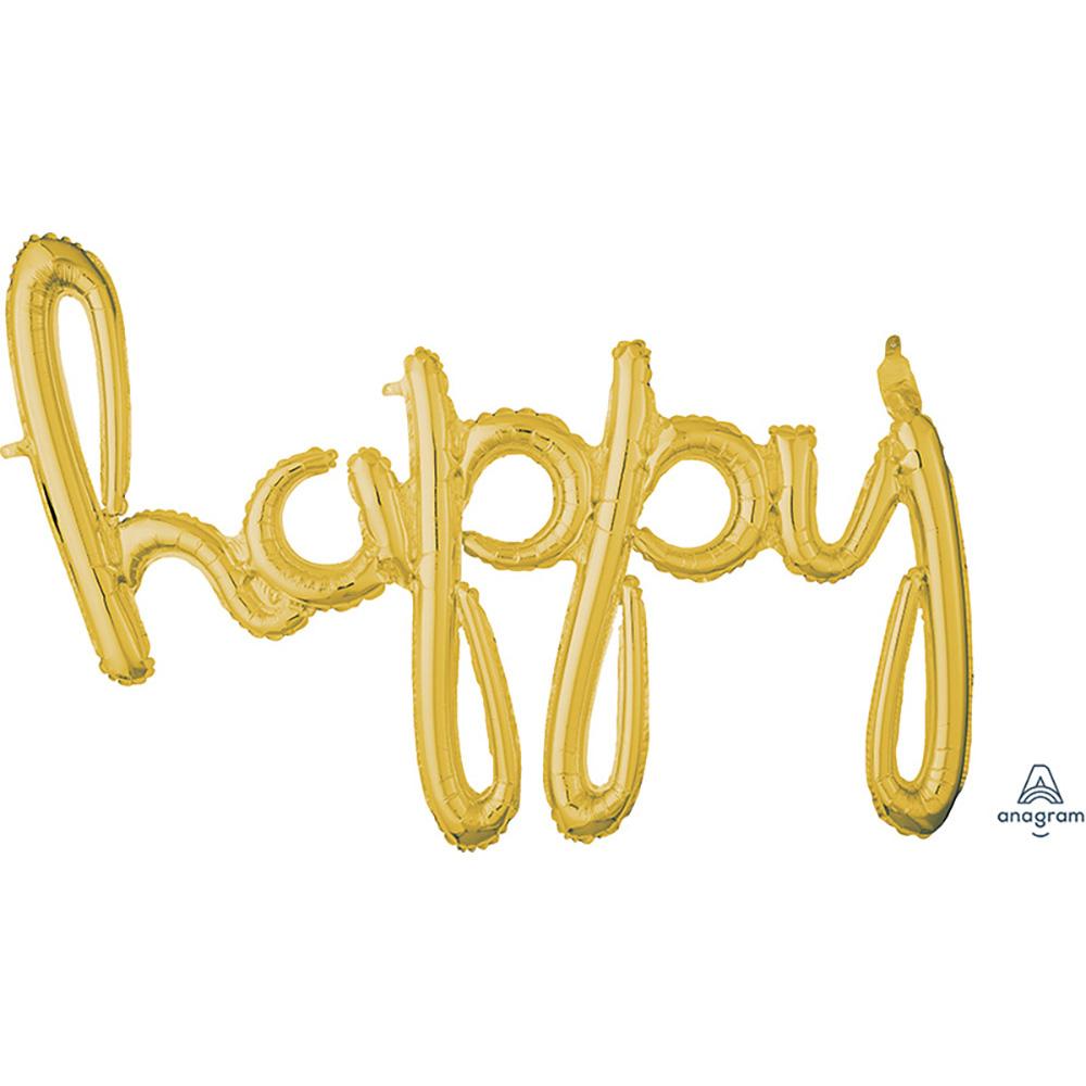 CI: Script Phrase happy Gold
