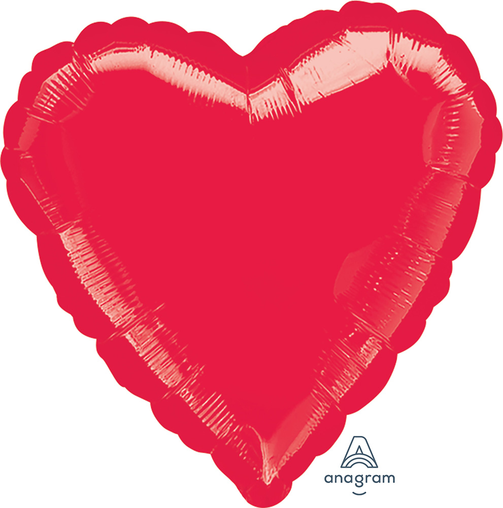 Solid Balloon Heart Red