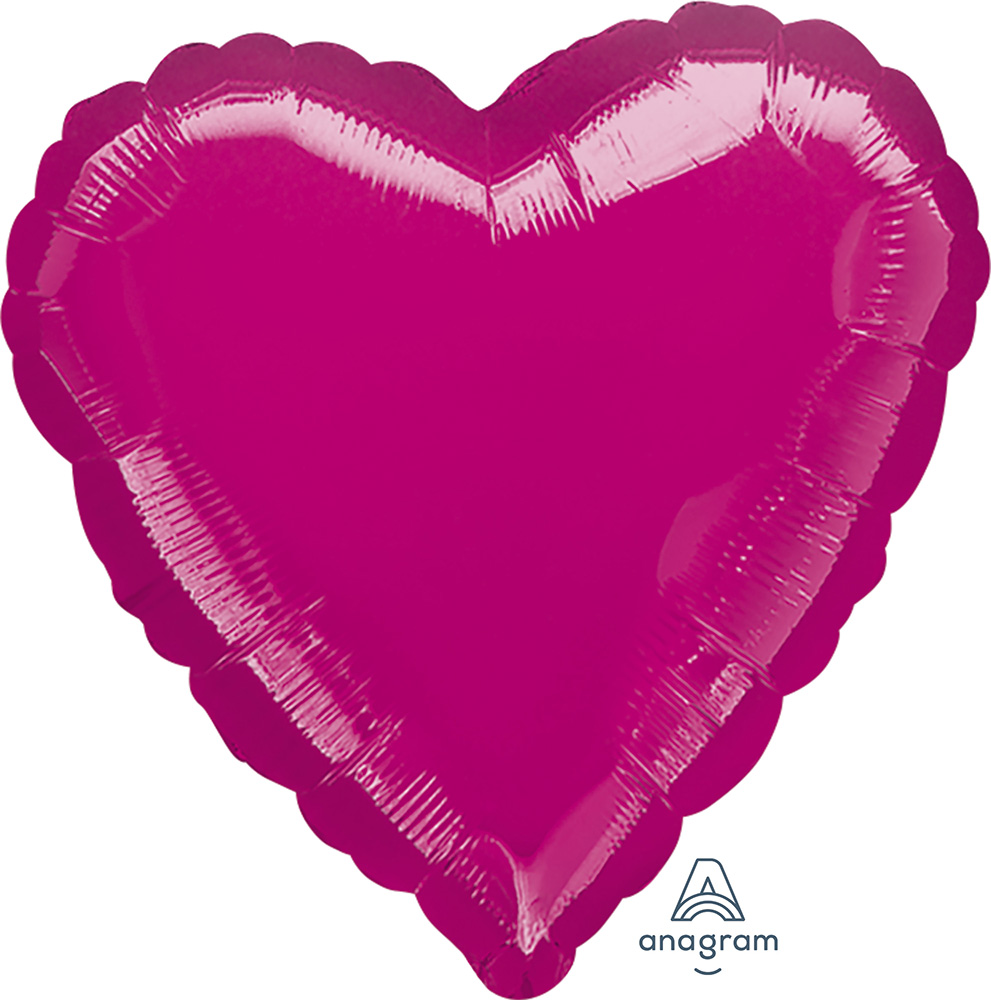 Solid Balloon Heart Fuchsia
