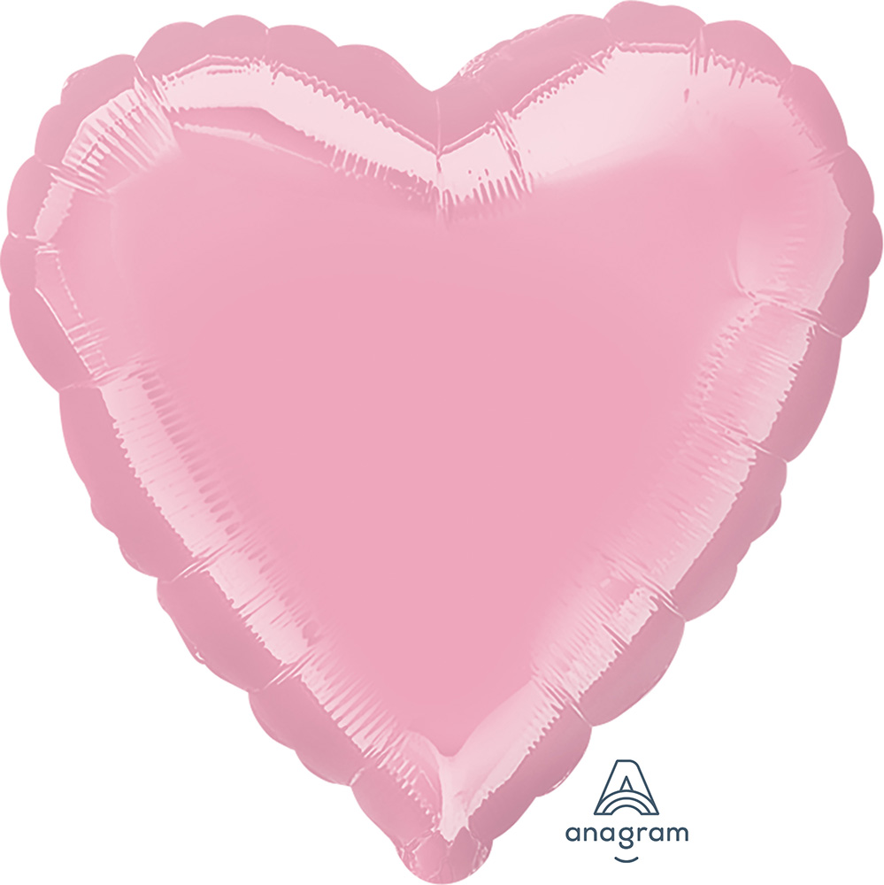 Solid Balloon Heart Pearl Pink