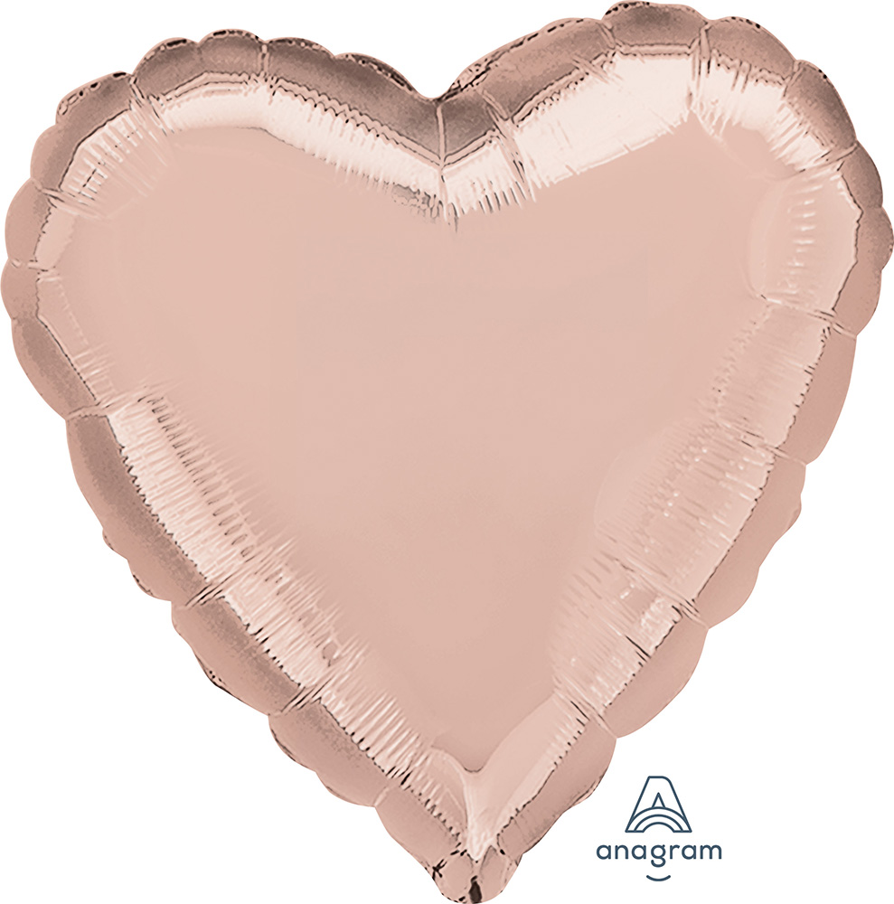 Solid Balloon Heart Rose Gold