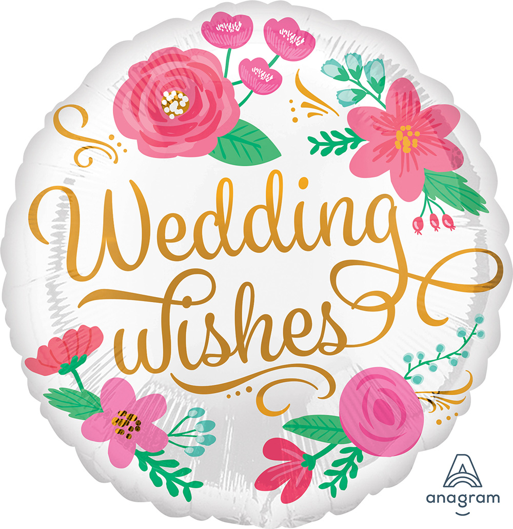 Wedding Wishes Gold Swirls