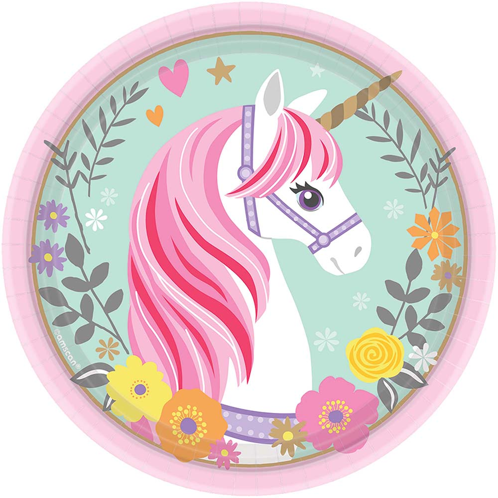 7inch Plate Magical Unicorn
