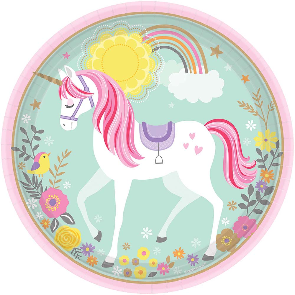 9″ Plate Magical Unicorn