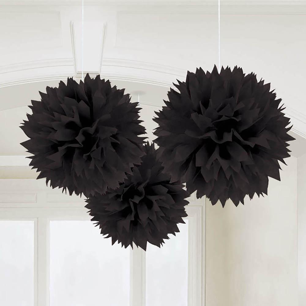 Fluffy Decorations Jet Black