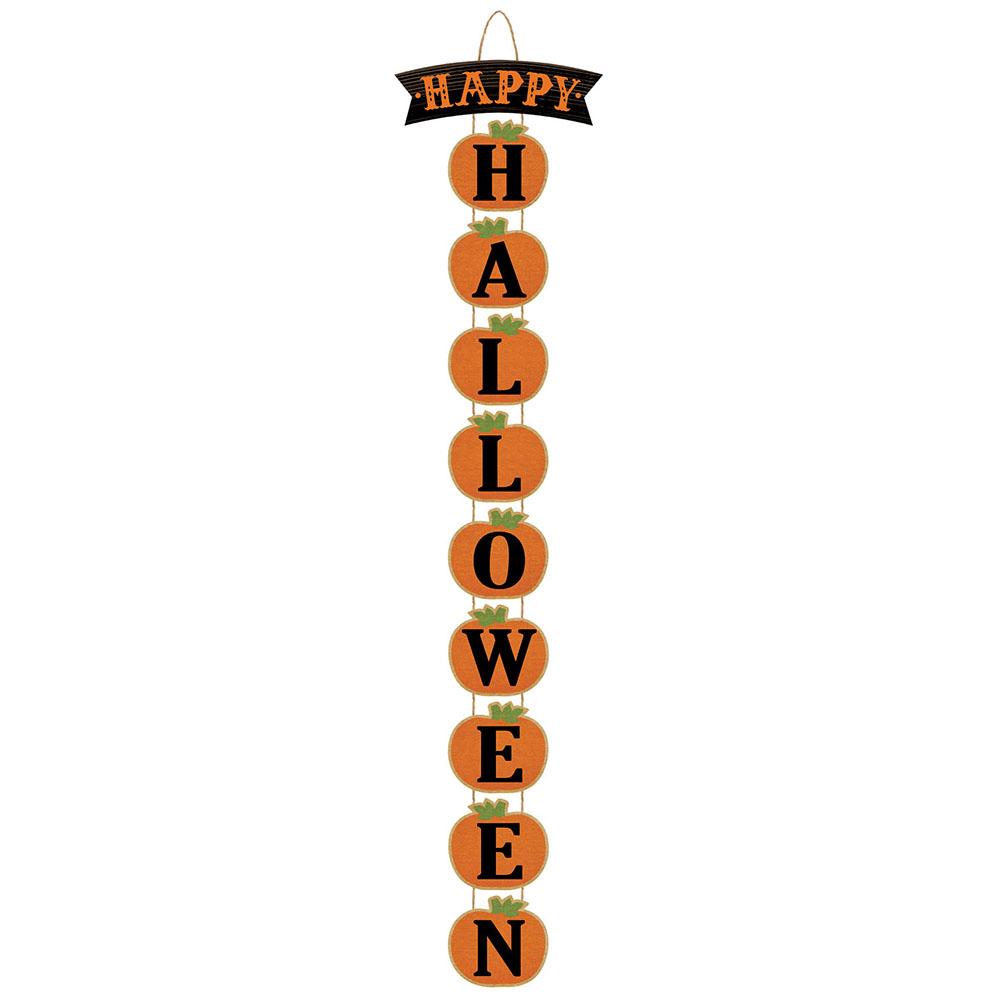 Vertical Sign Happy Halloween