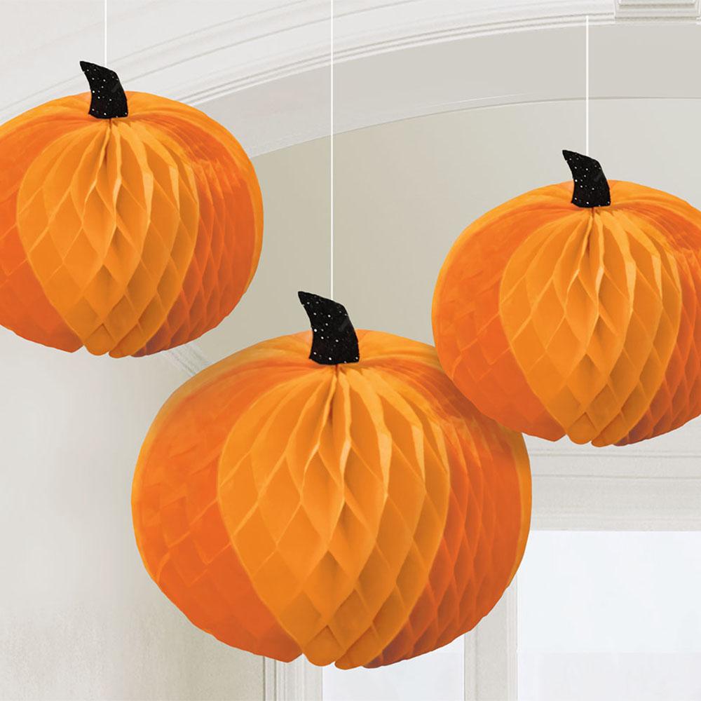 Honeycomb Centerpiece Pumpkins