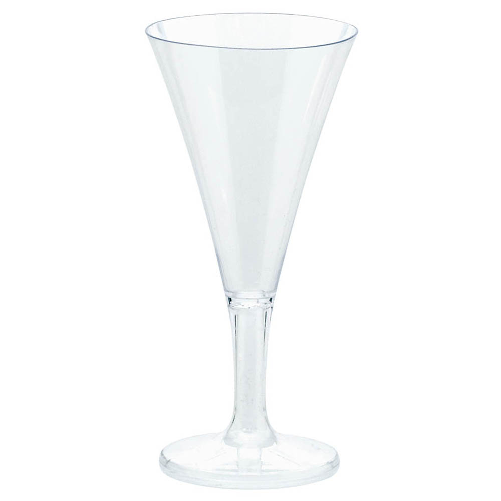 Mini Champagne Flutes Clear