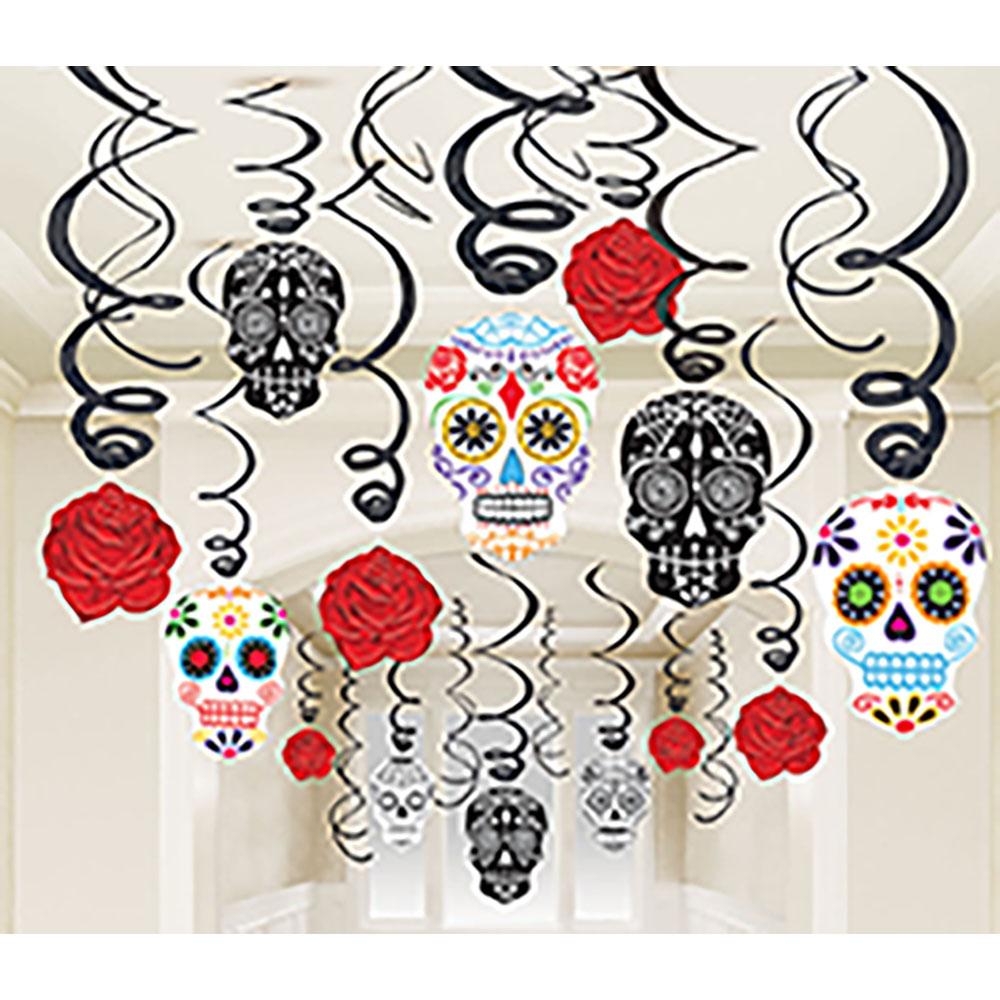 Swirl Decorations Black & Bones