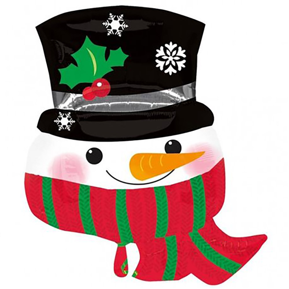 Snowman with Hat & Scarf