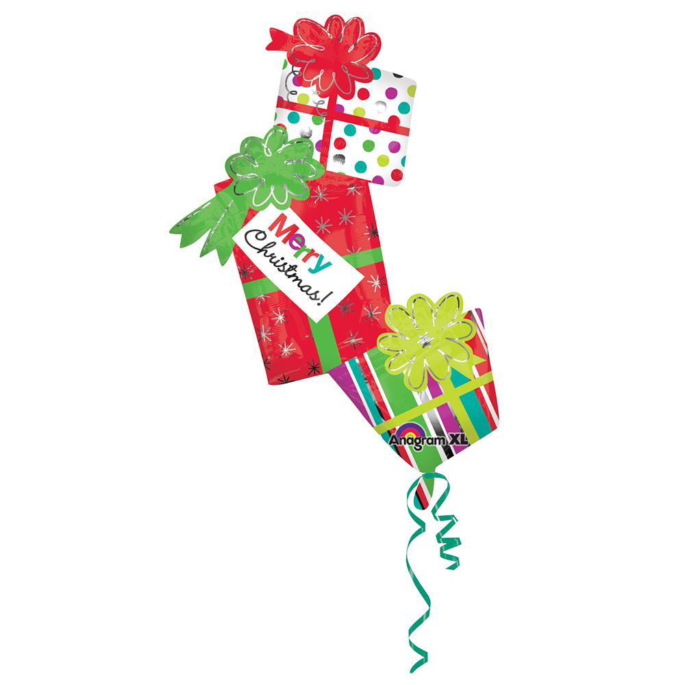 Colorful Christmas Presents Super Shape