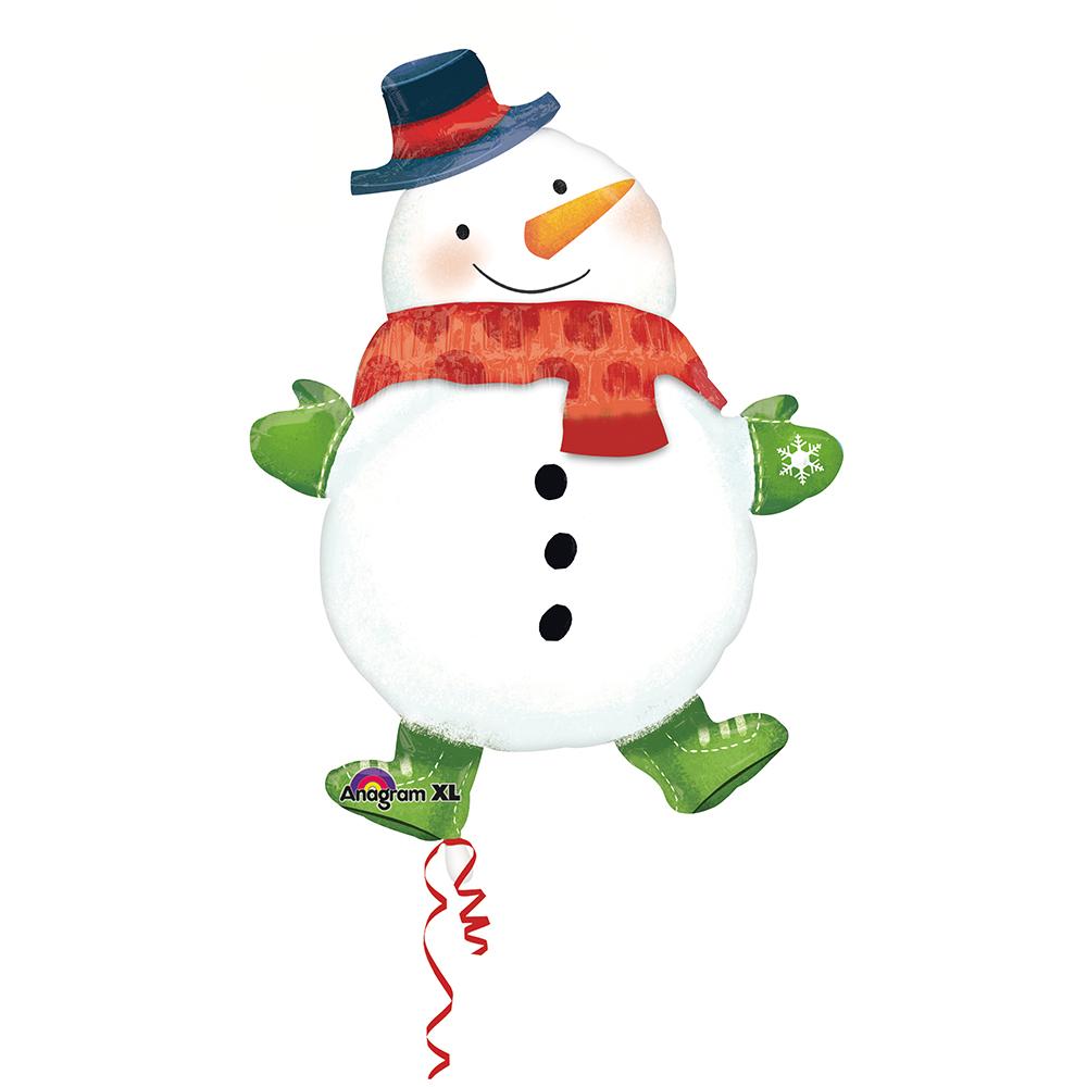 Multi Snowman Scarf Garland
