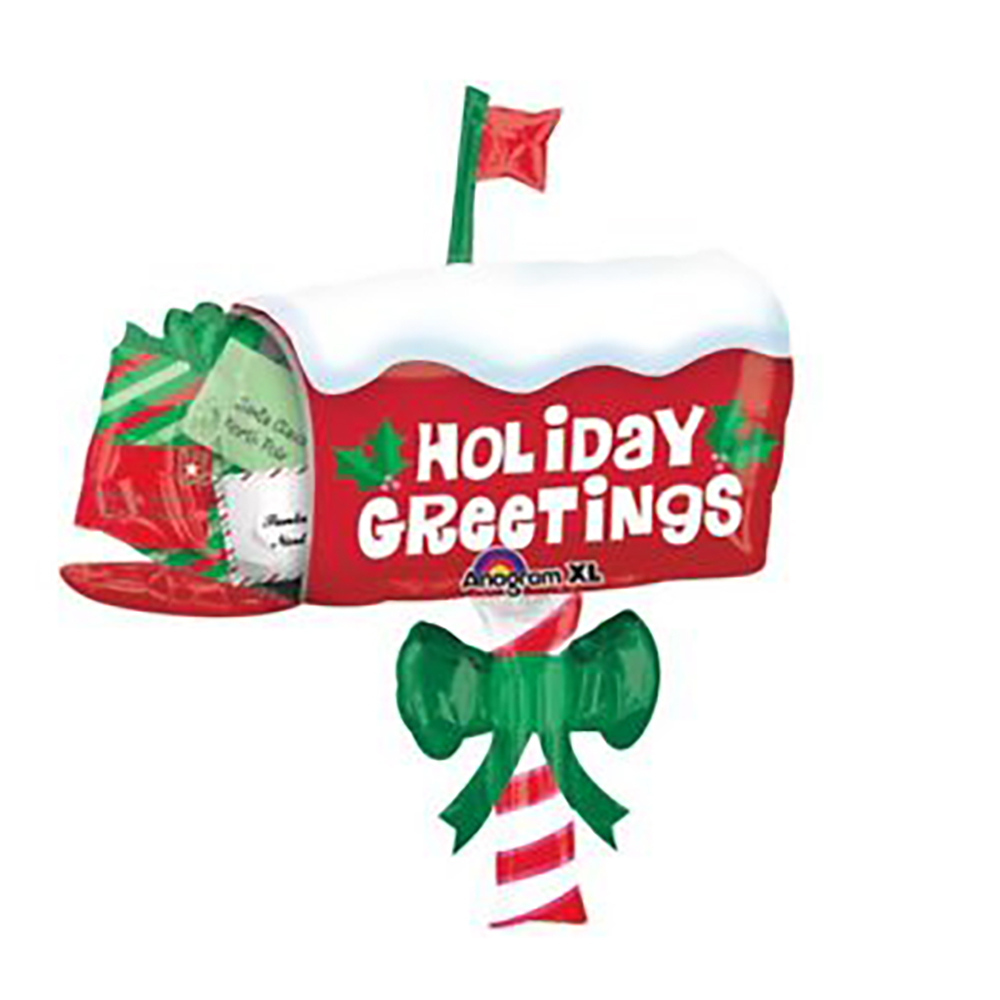 Holiday Greetings Mailbox Super Shape