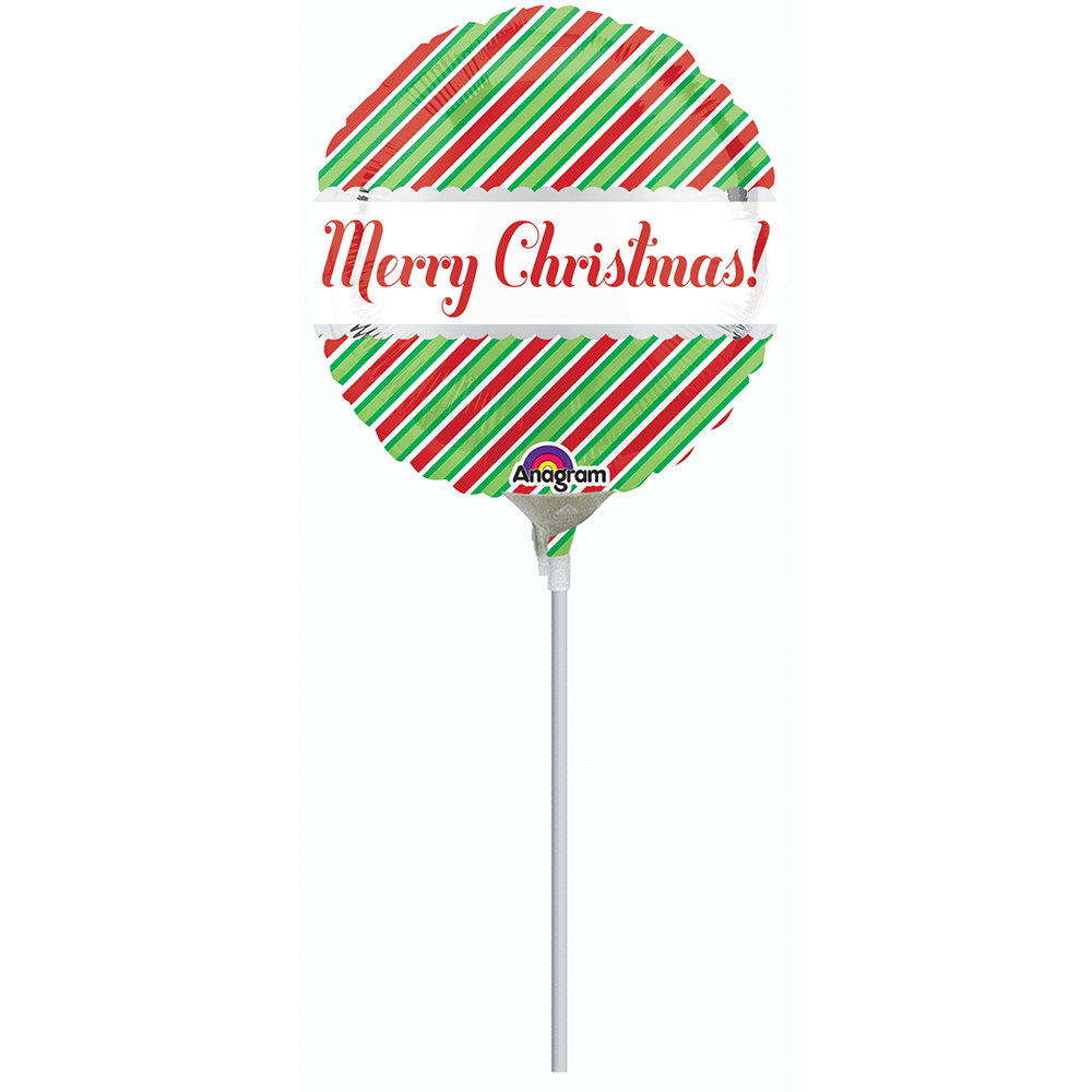 4″, 9″ Christmas Stripes