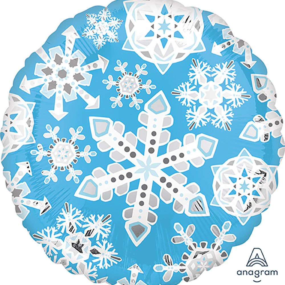 Blue & White Frosty Snowflakes