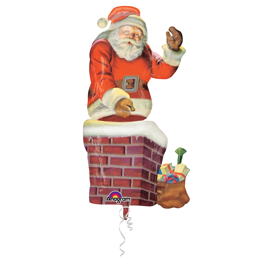 Giant Multi Santa and Chimney