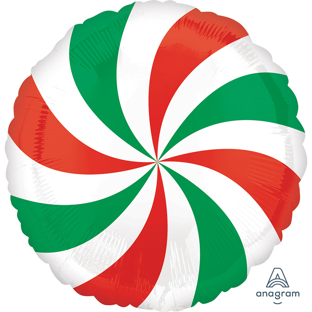 Red & Green Swirl