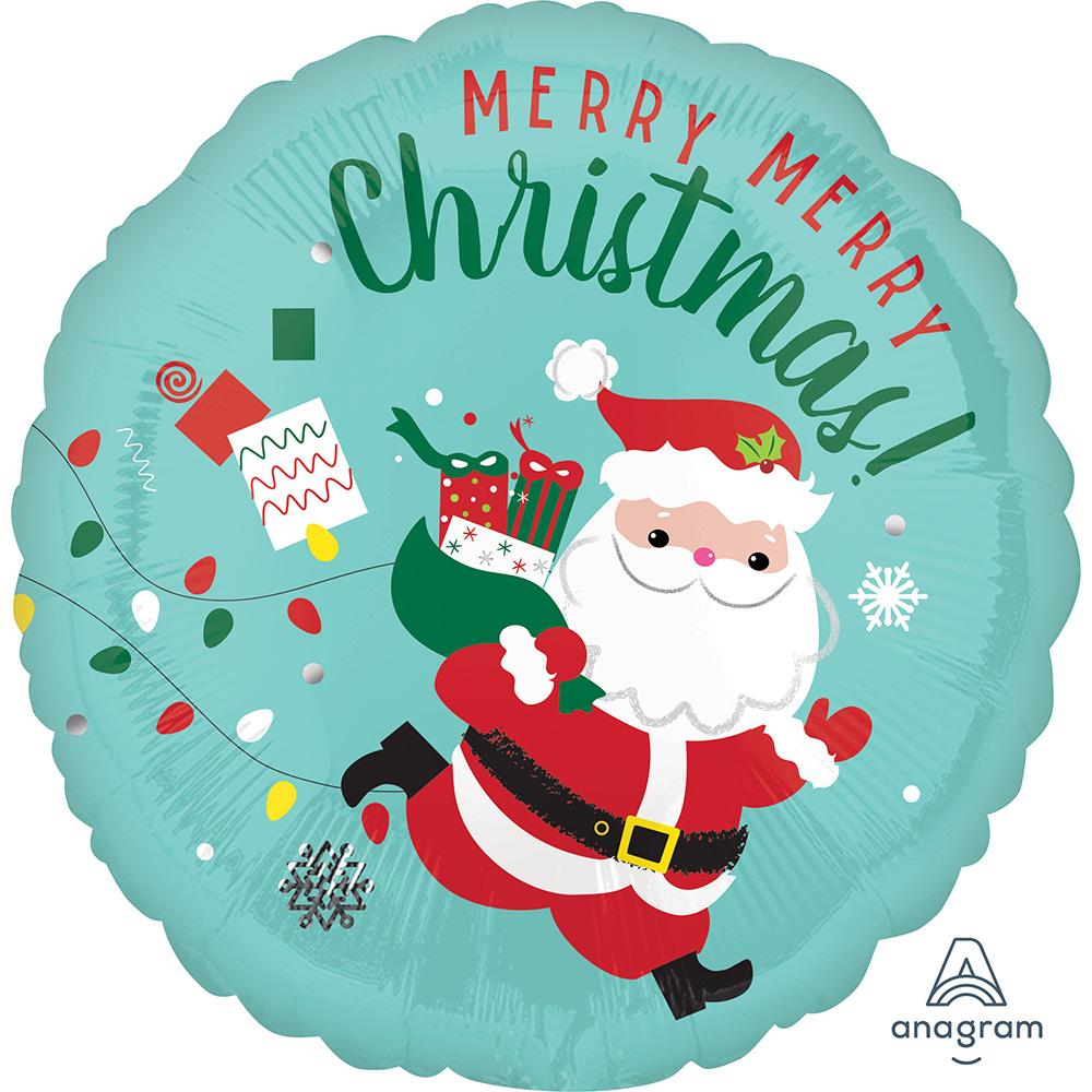Christmas Running Santa