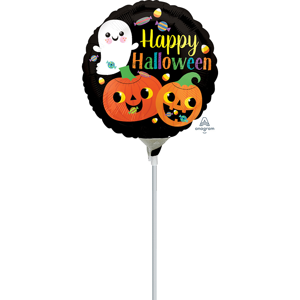 4″, 9″ Happy Ghost & Pumpkins