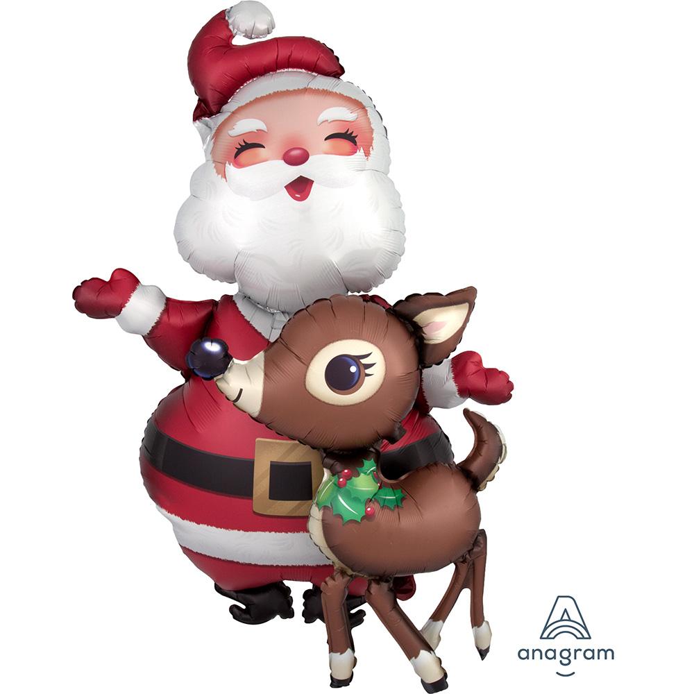 AirWalker Santa & Raindeer Satin Luxe