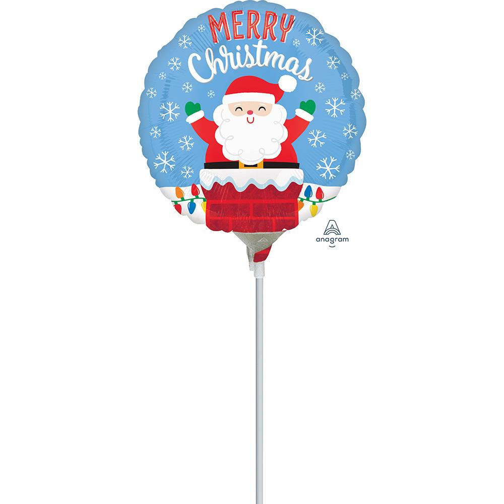 4″ Santa in Chimney