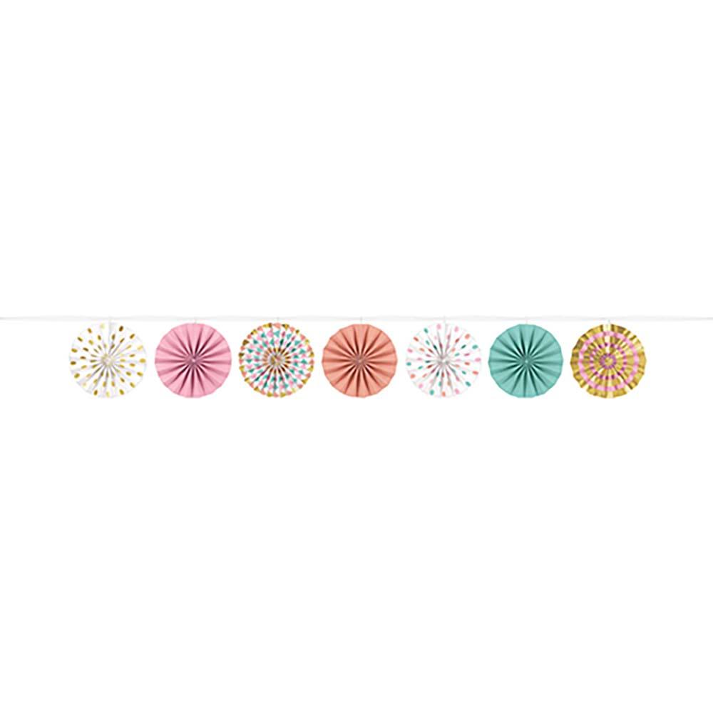 Mini Fans Garland H-s Paper – Pastel
