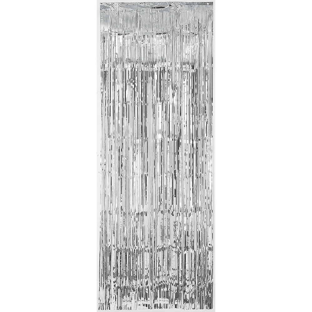 Metallic Curtain Silver