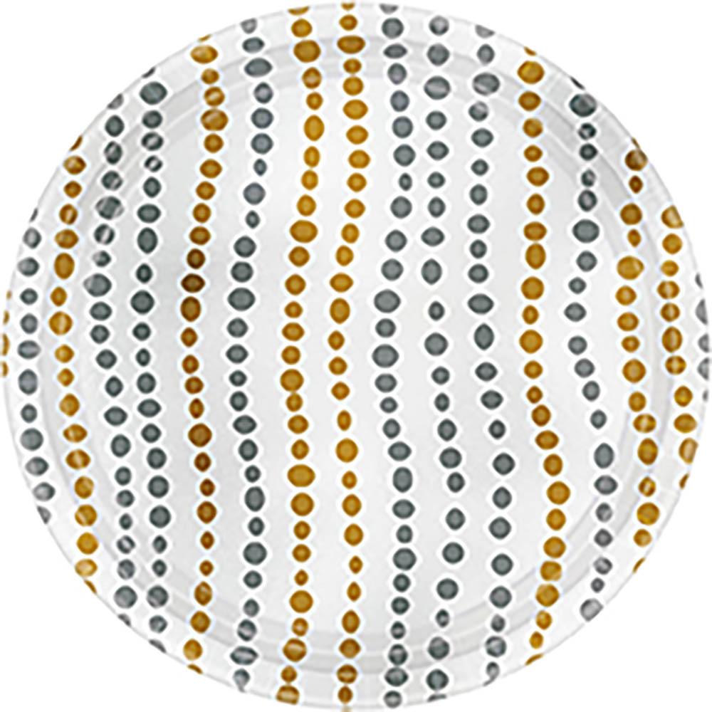 7″ Metallic Plates Modern Dot