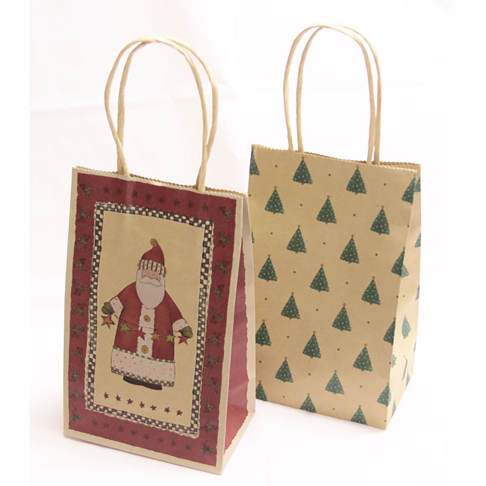 Petite Kraft Bags North Pole